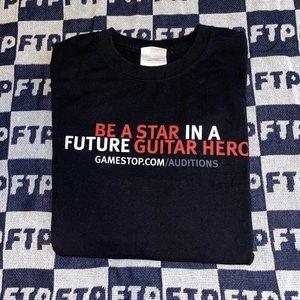 Guitar hero world tour audition GameStop tee